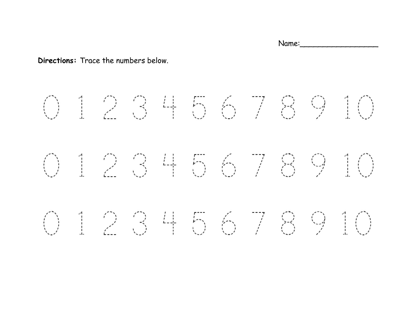 4 Best Images Of Printable Assessment Worksheets Numbers 1