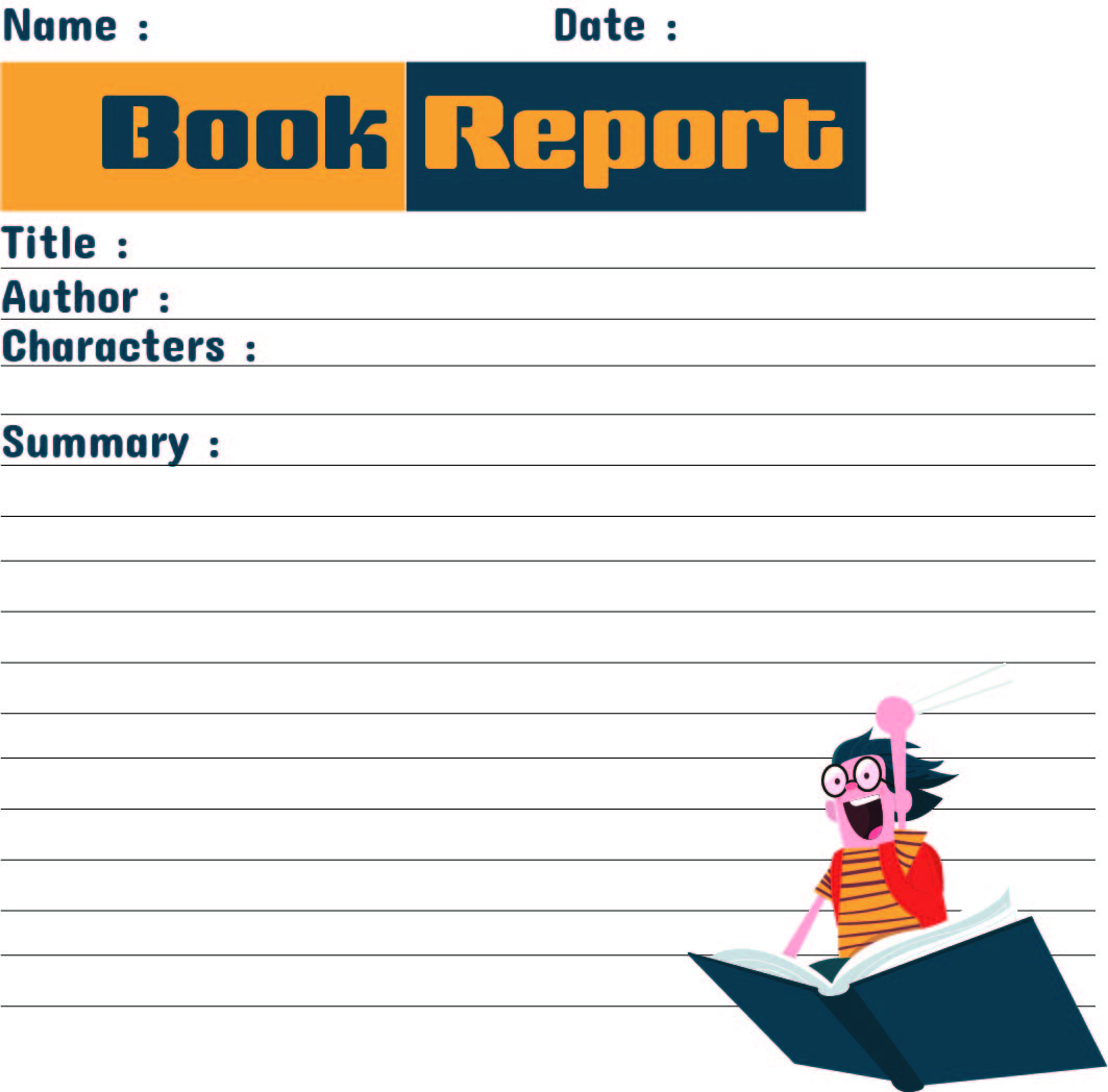 7 Best Free Printable Book Report Forms