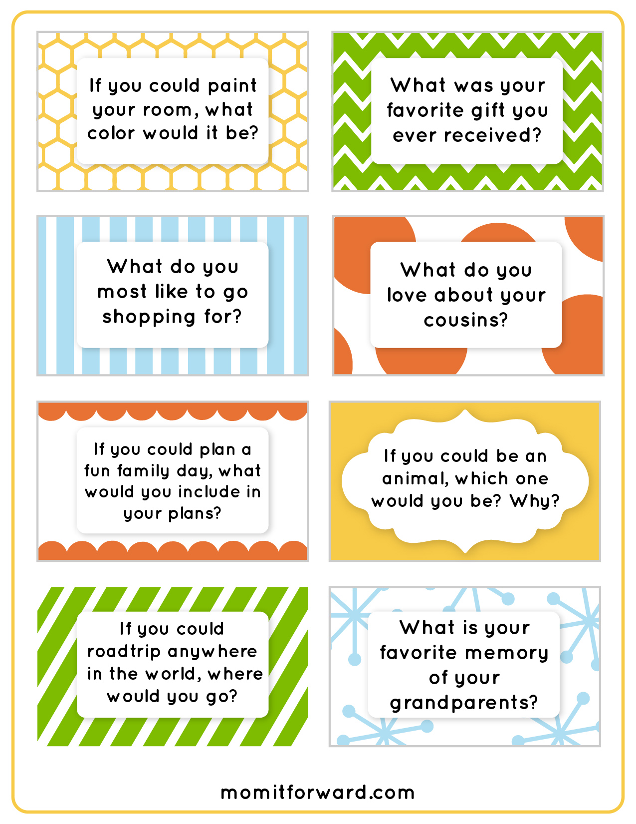 8 Best Images Of Printable Family Discussion