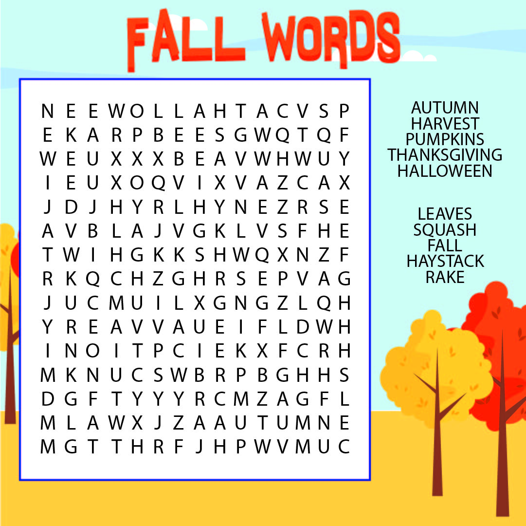 5 Best Printable Fall Word Games