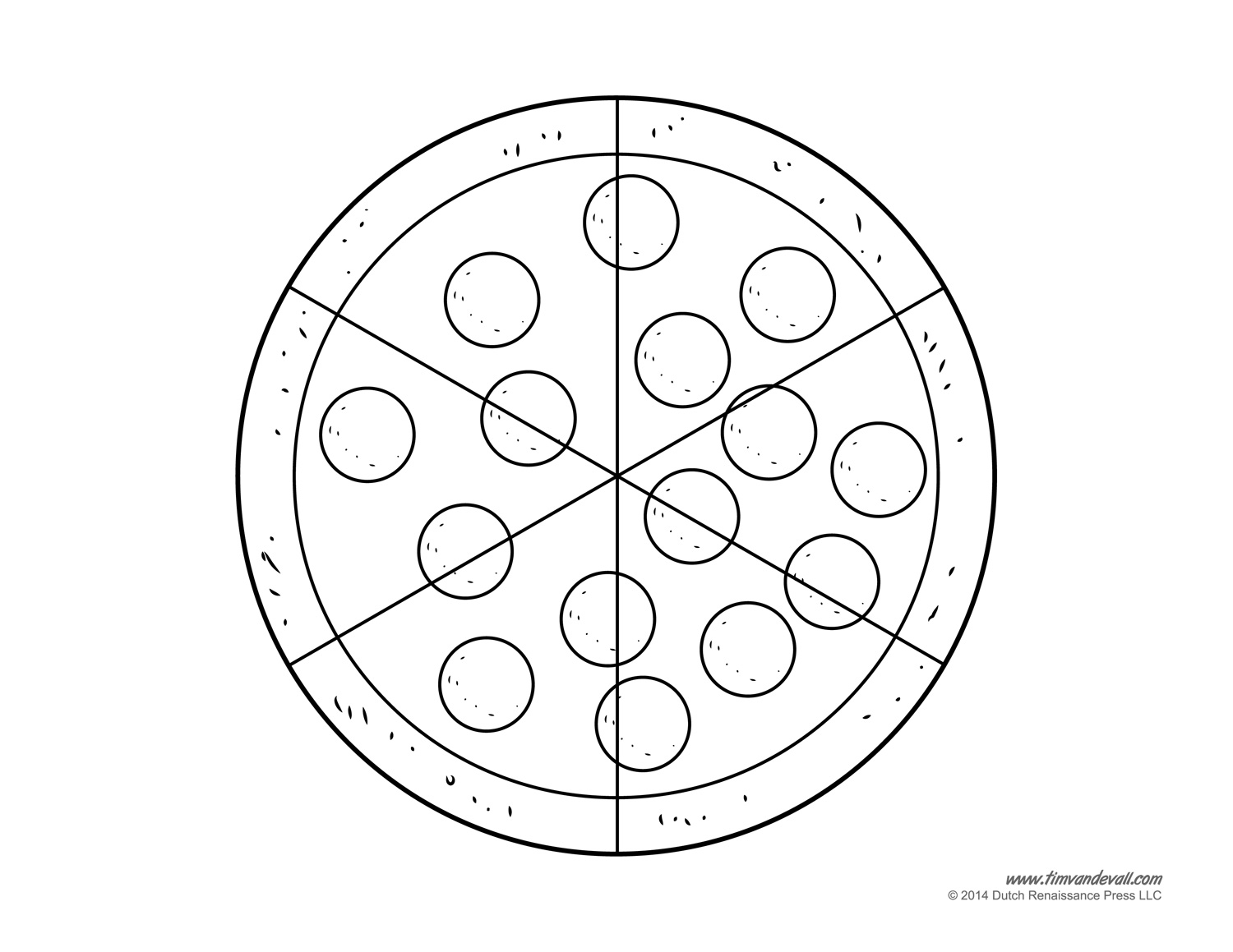 5 Best Images Of Printable Pizza Template
