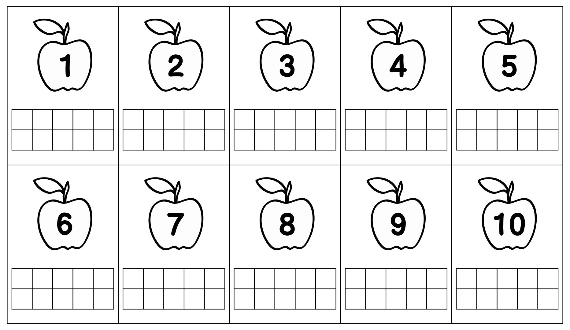 5 Best Images Of Printable Ten Frame Activity