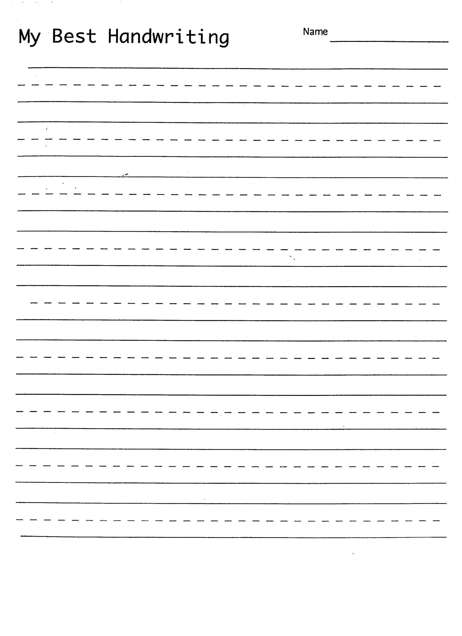 6 Best Images Of Free Printable Blank Handwriting Practice