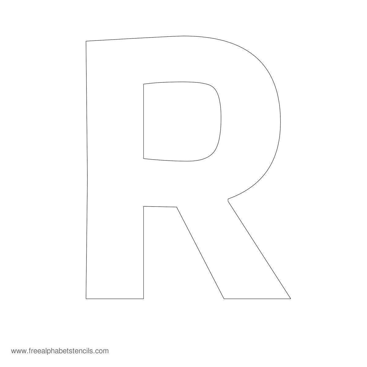 9 Best Images Of Large Printable Block Letter R