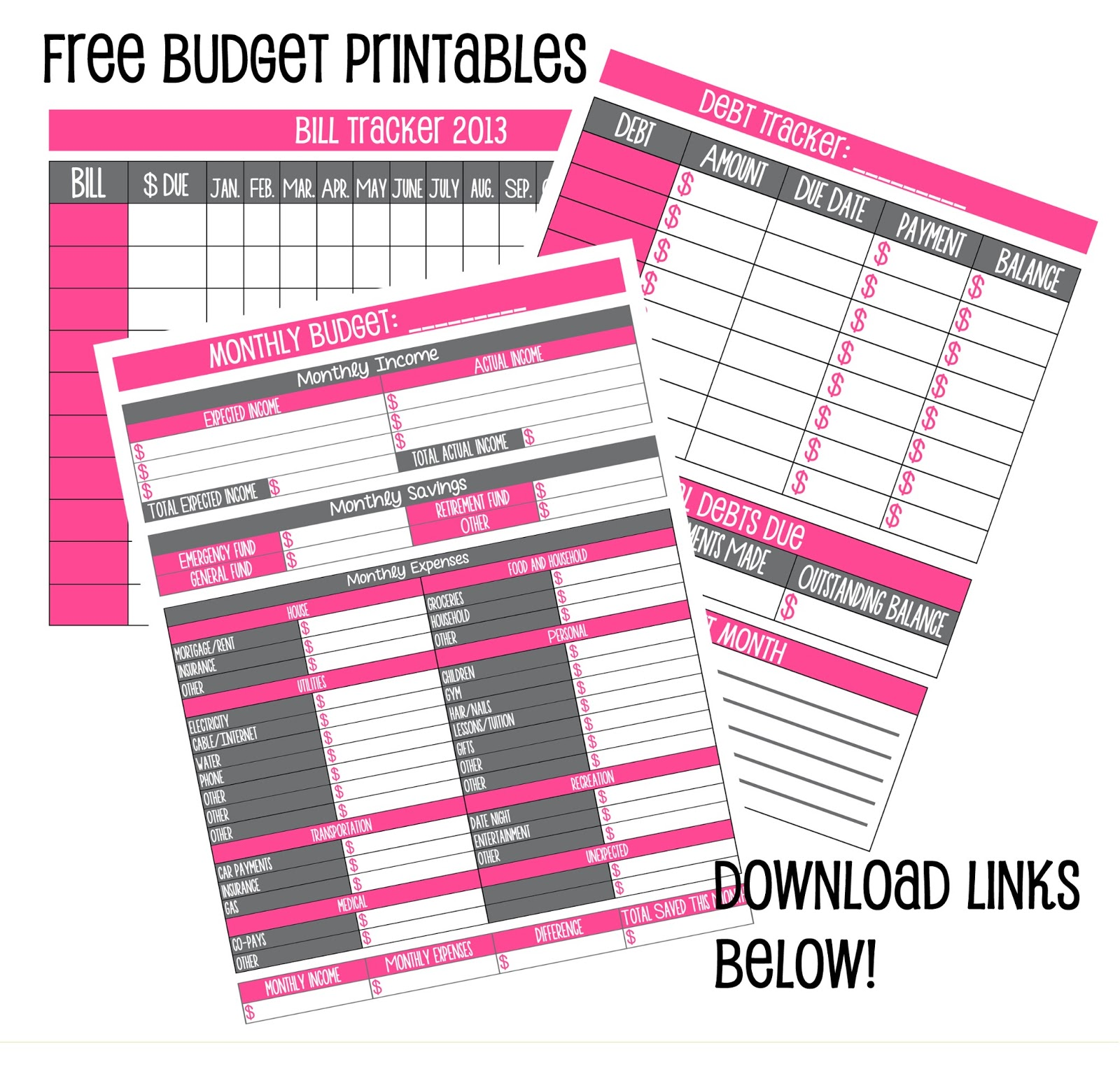 7 Best Images Of Free Printable Weekly Budget Sheets