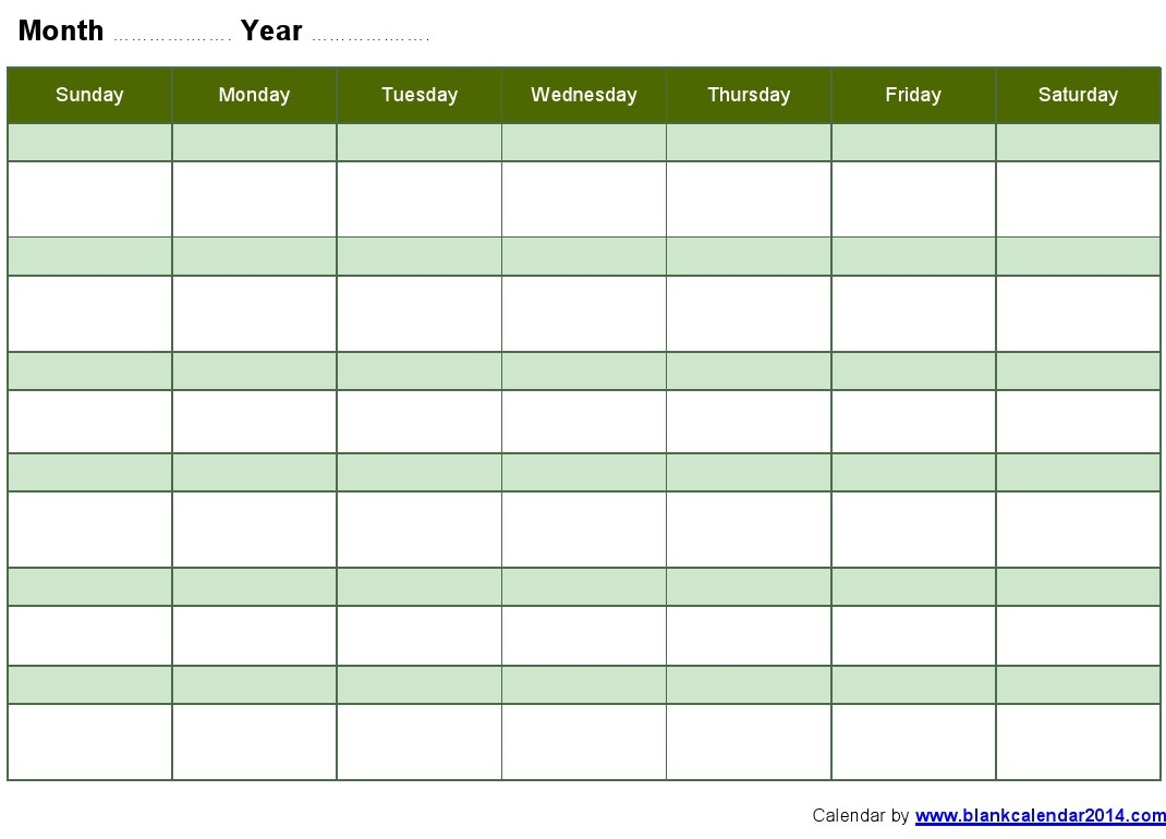 8 Best Images Of Printable Monthly Calendar Schedule