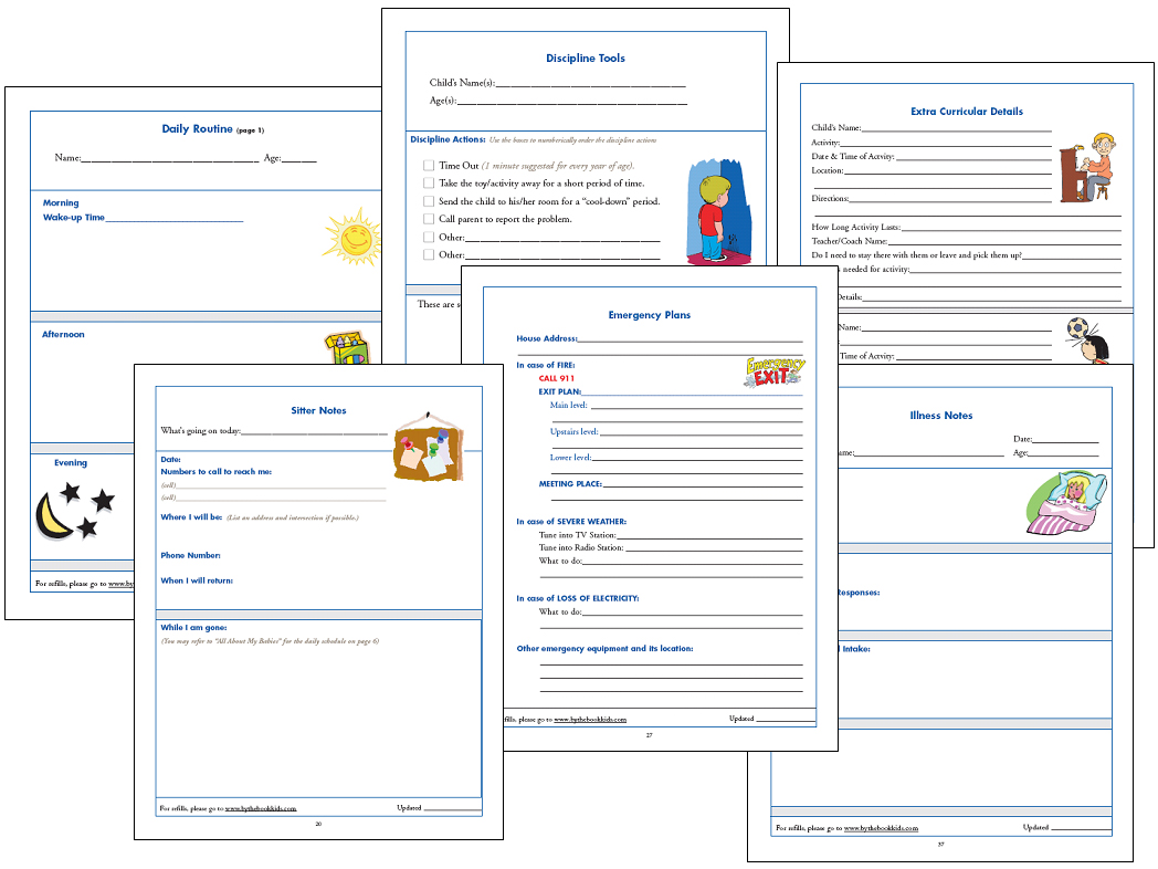 7 Best Images Of Red Cross Babysitting Forms Printable