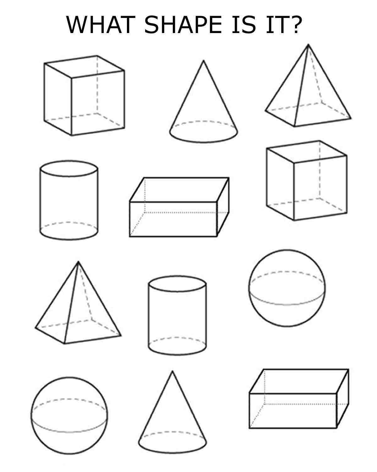 4 Best Images Of Worksheets 3d Shapes Printable