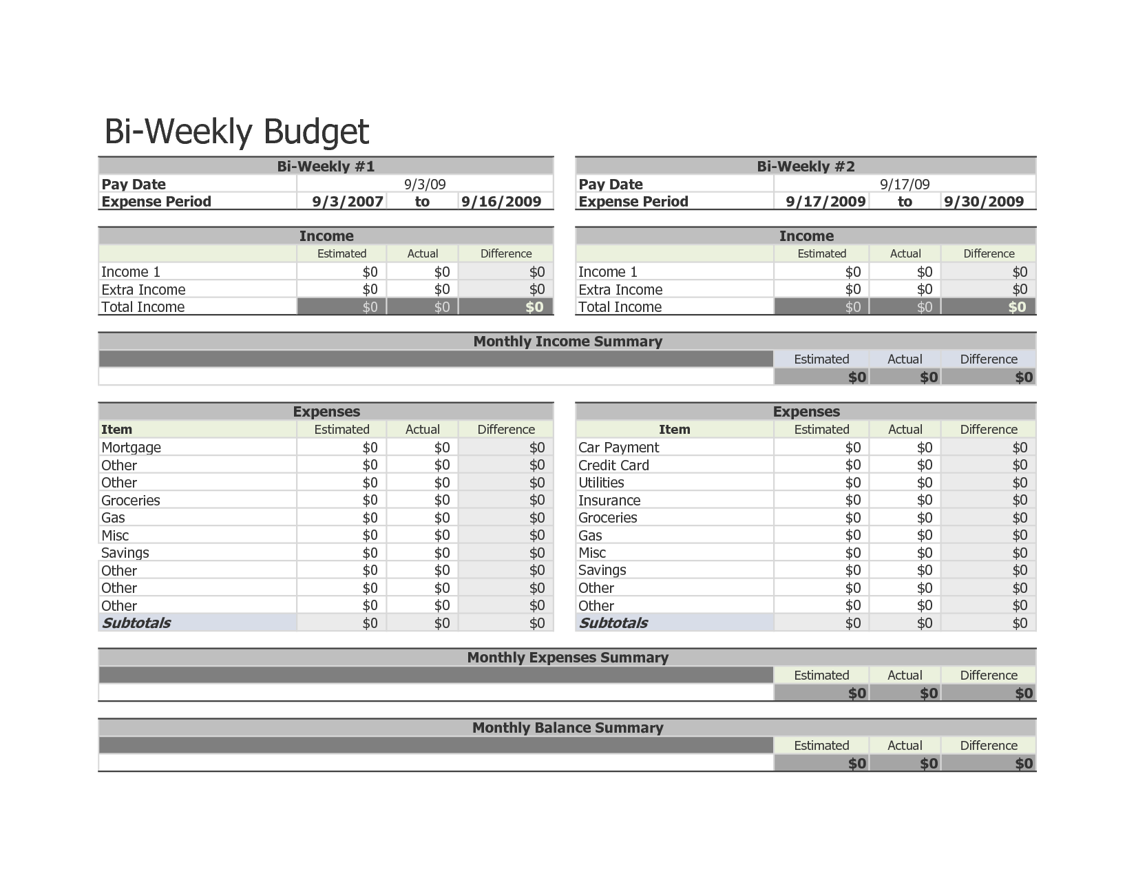 7 Best Images Of Weekly Budget Template Printable
