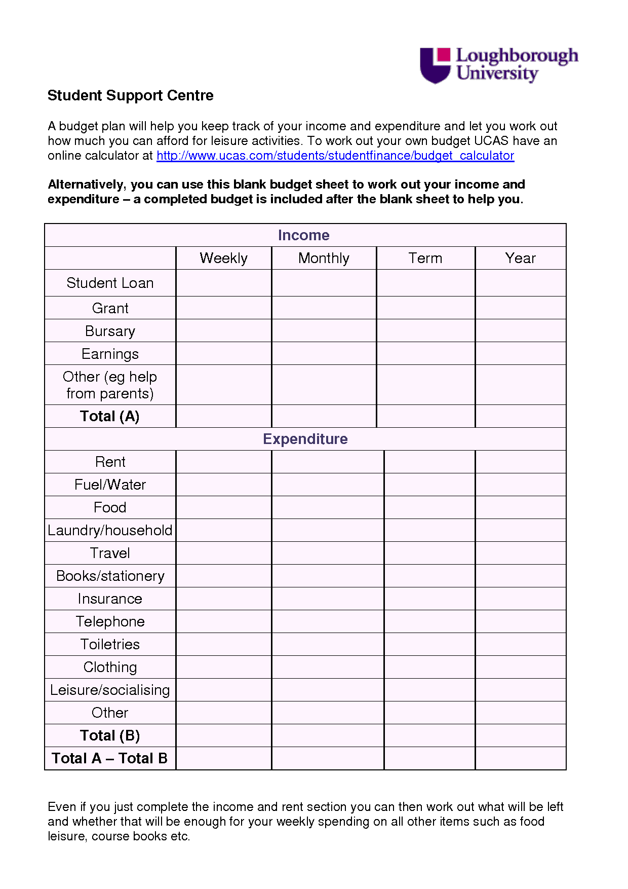 6 Best Images Of Blank Printable Monthly Budget Worksheet