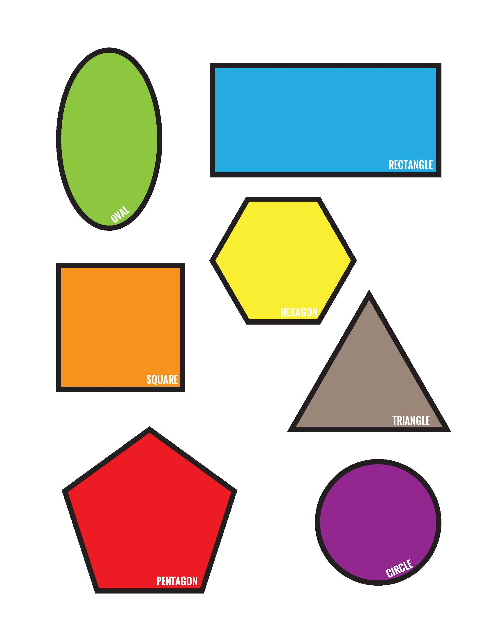 6 Best Images Of Shapes Matching Game Printable