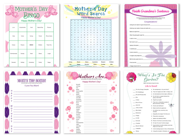 8 Best Images of Mother's Day Printable Games - Free ...
