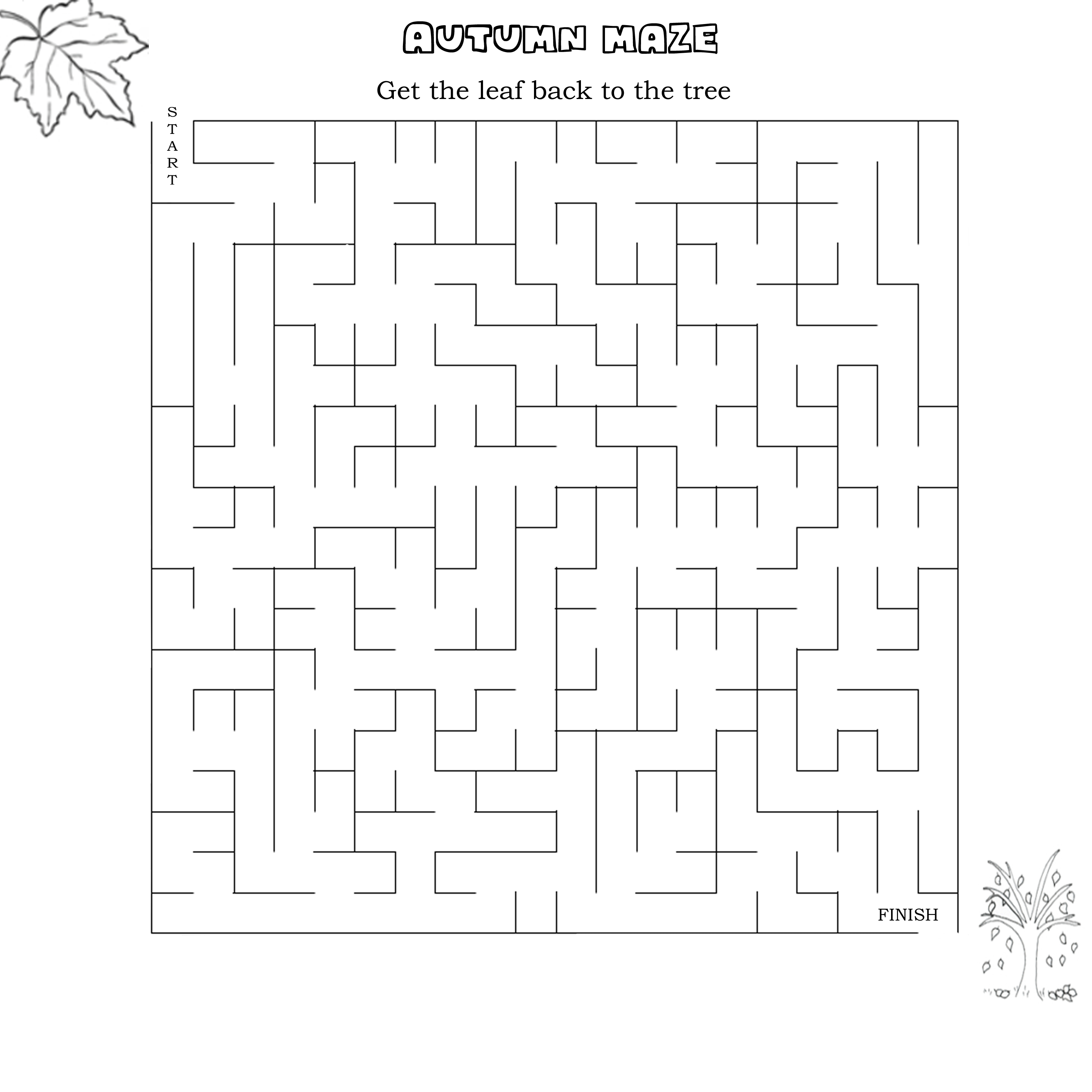 5 Best Images Of Autumn Leaf Maze Printable
