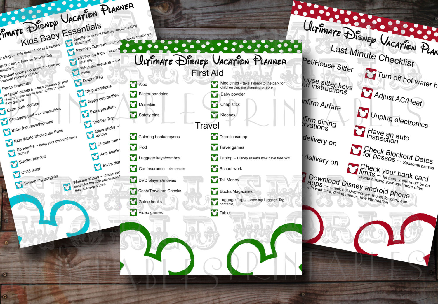 9 Best Images Of Printable Disney World Planner