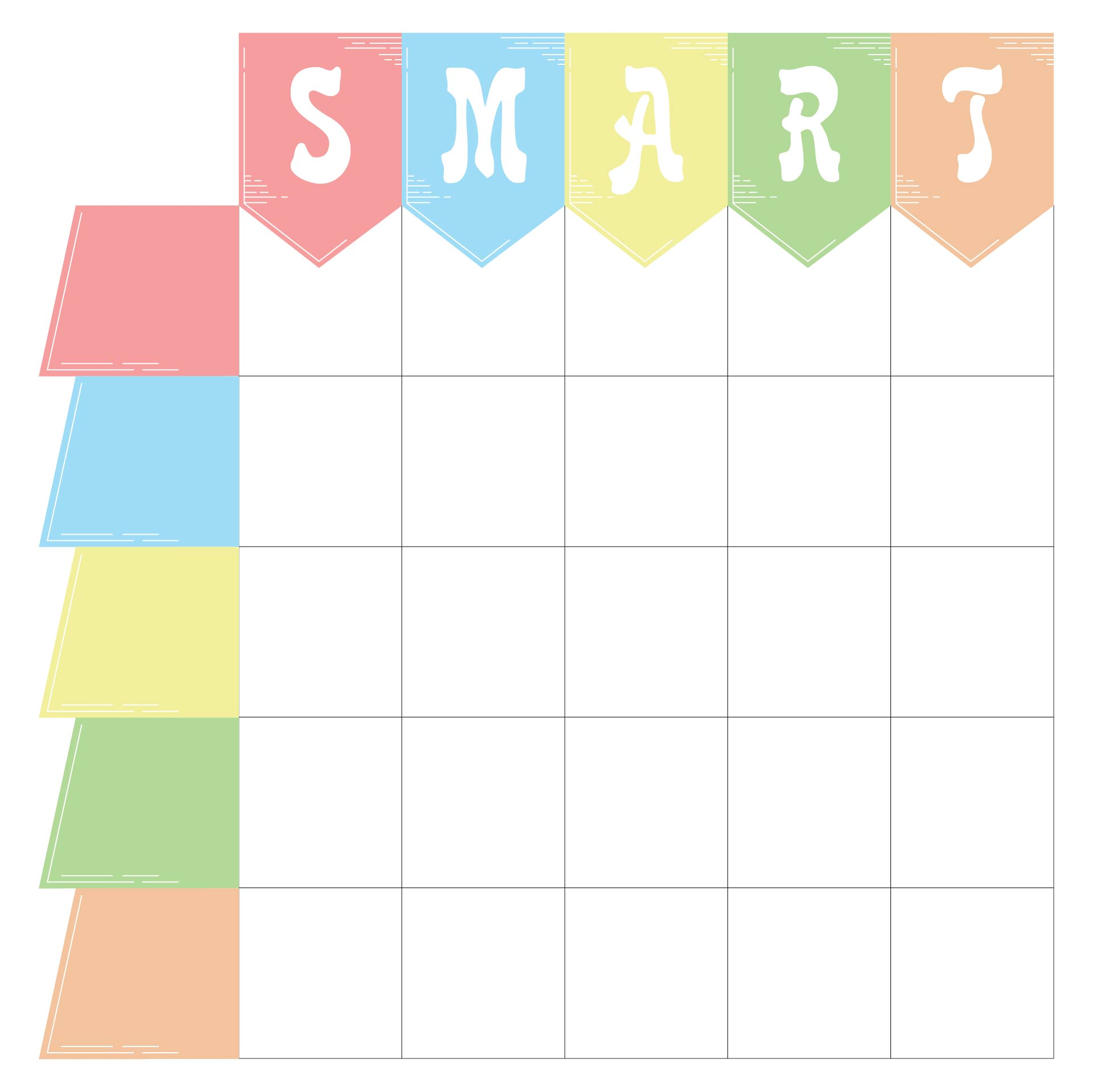 8 Best Images Of Blank Printable Goals Template Smart