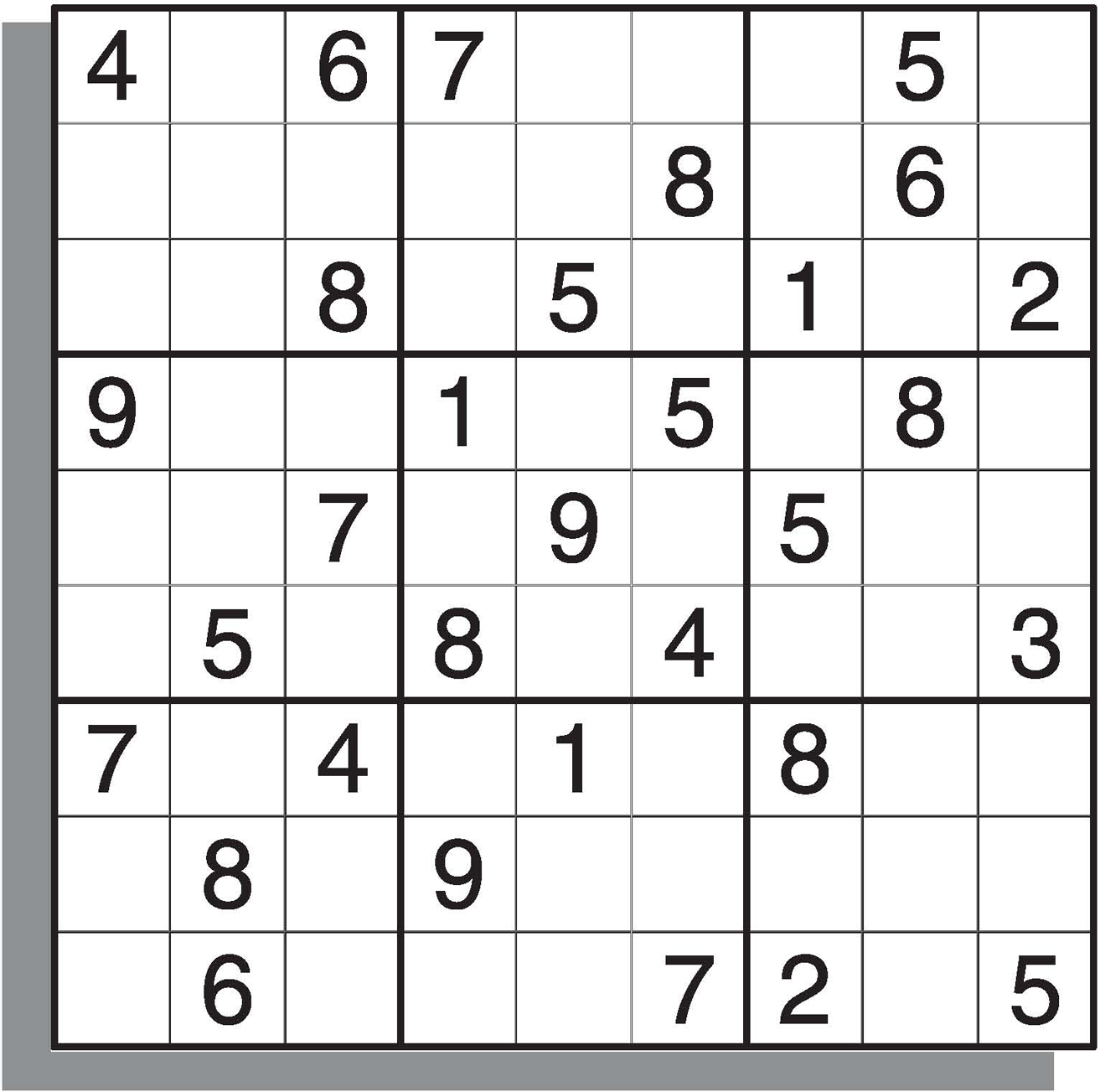 This is a photo of Obsessed Medium Sudoku Printable