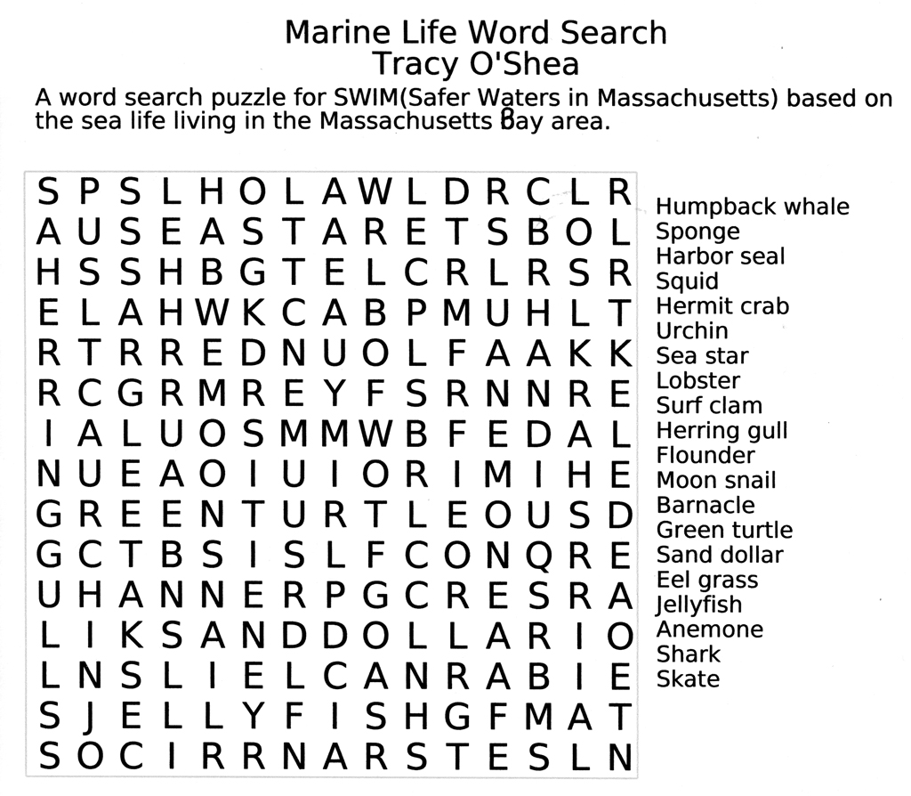 Free Printable Large Print Easy Word Search Puzzles