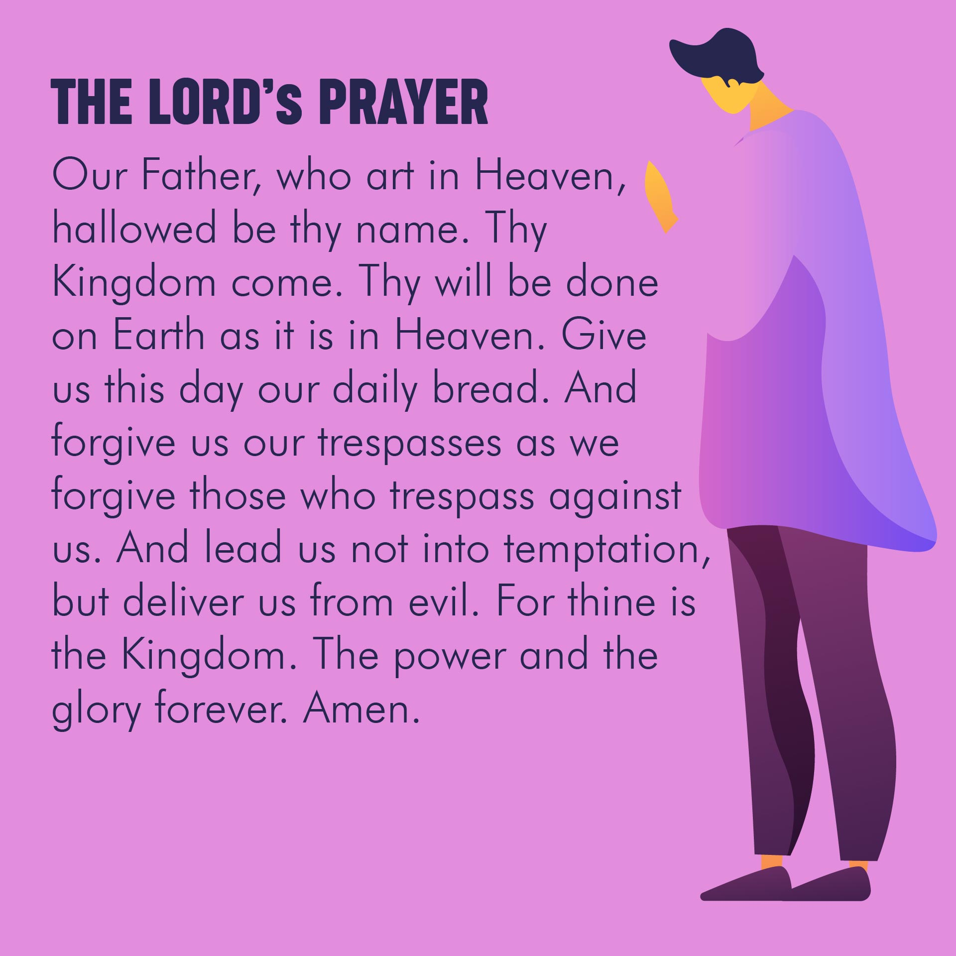 8 Best Images Of The Lord Prayer Printable