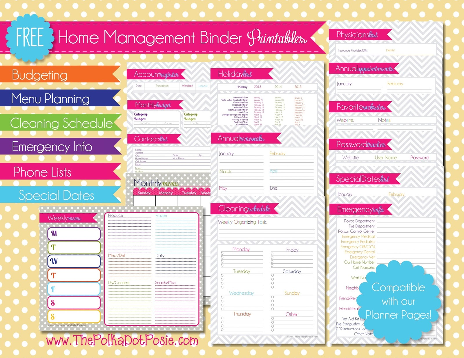 8 Best Images Of Home Management Binder Printables