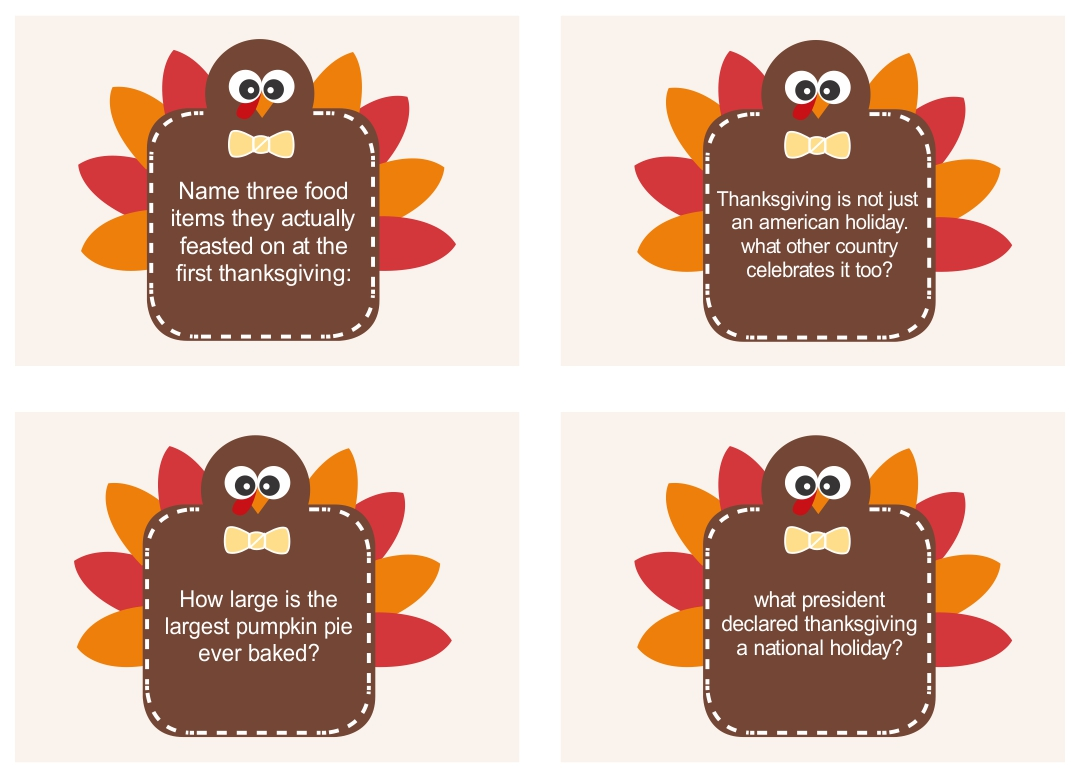 4 Best Free Printable Thanksgiving Trivia Questions