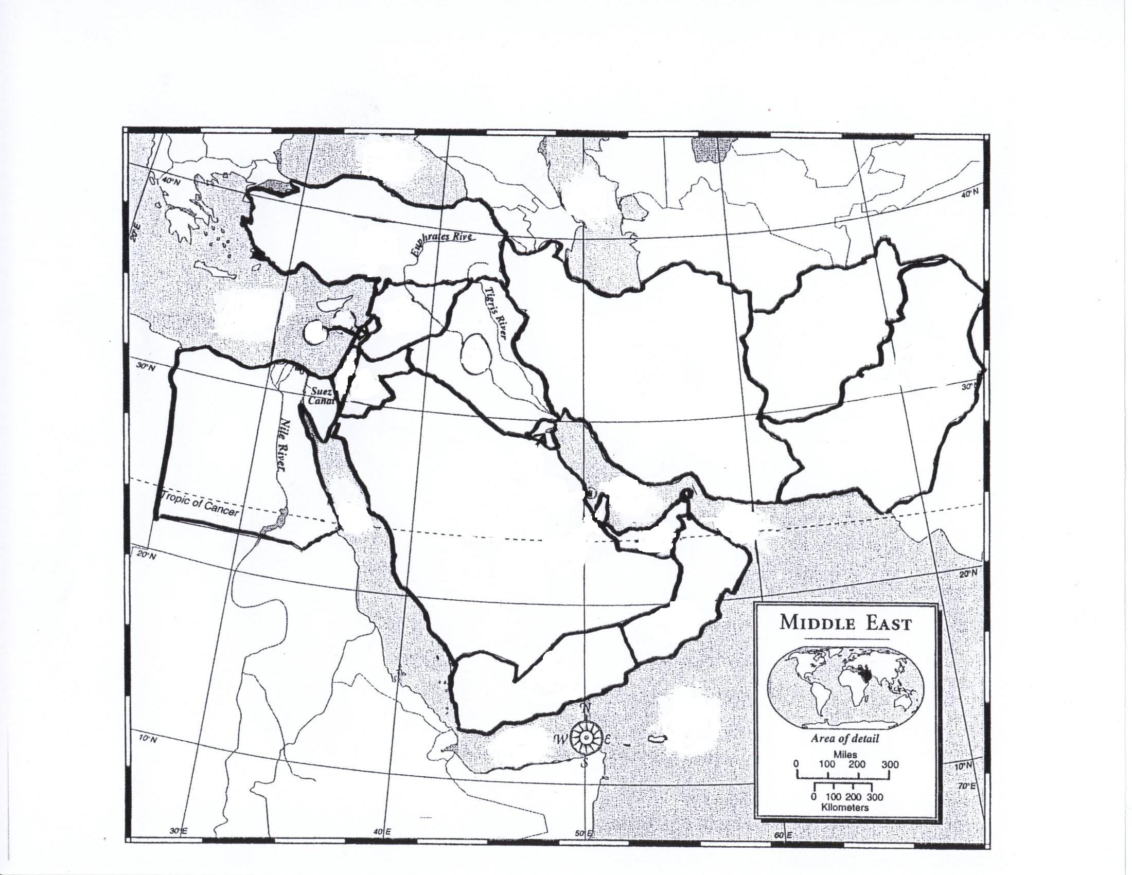 7 Best Images Of Printable Blank Map Of Middle East