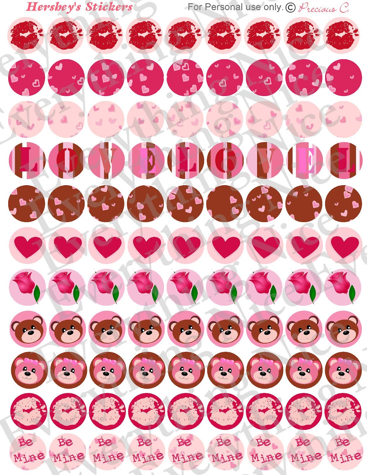 7 Best Images Of Free Printable Valentine Stickers