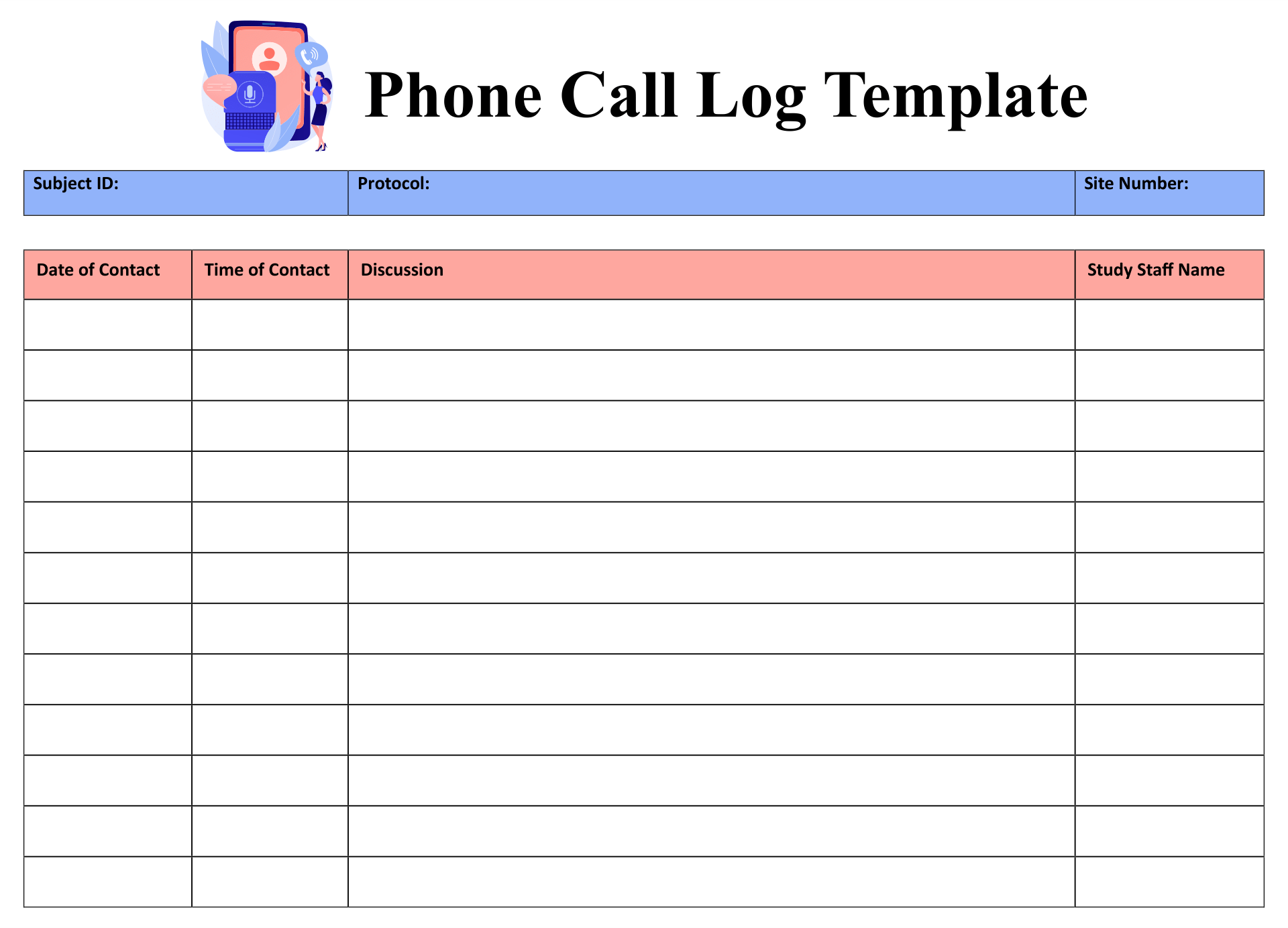 This also gives an idea on the kind of follow up that is … 10 Best Free Printable Phone Log Form Printablee Com