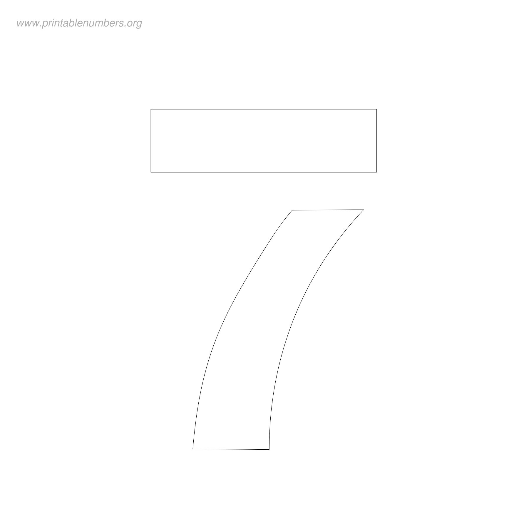 6 Best Images Of Printable Number Templates 4