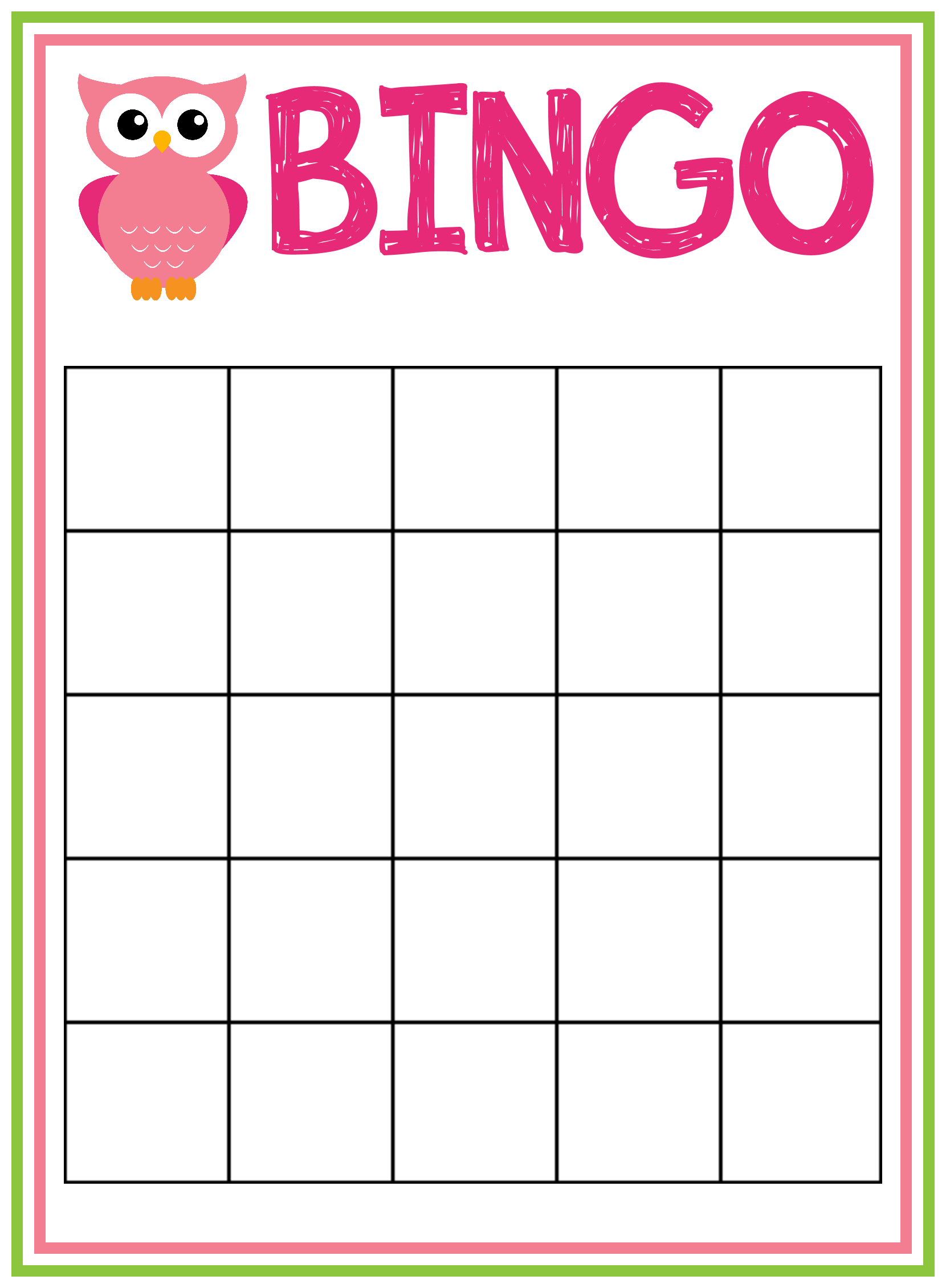 6 Best Images Of Free Printable Game Sheets