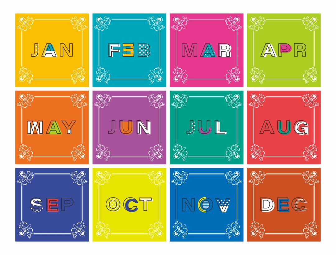 7 Best Free Printable Month Names