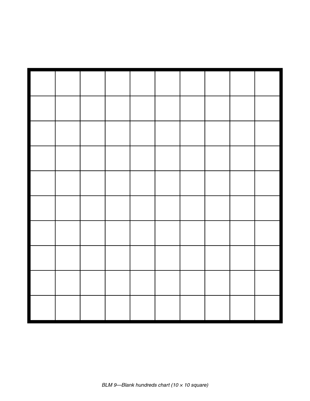 7 Best Images Of 100 Grid Chart Printable