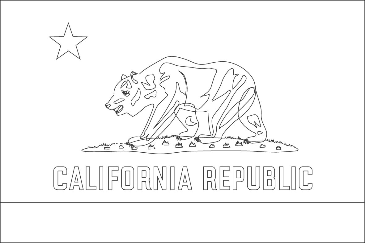 5 Best Images Of California American Flag Printable