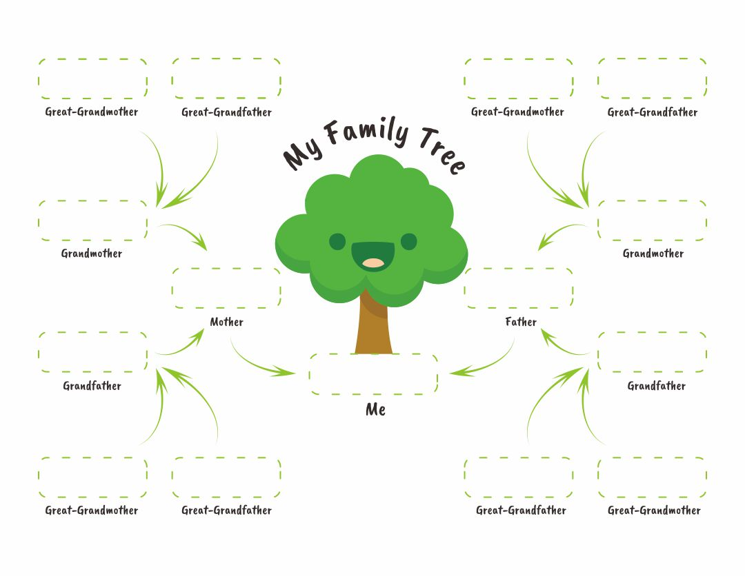 9 Best Images Of Printable Family Tree Worksheet
