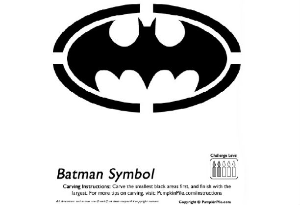Batman Pumpkin Carving Patterns Templates