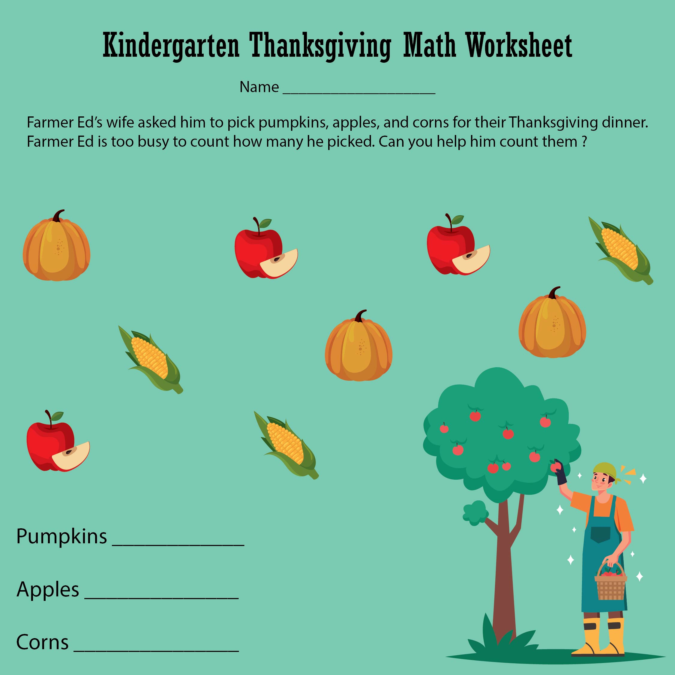 6 Best Free Thanksgiving Printable Activity Worksheets