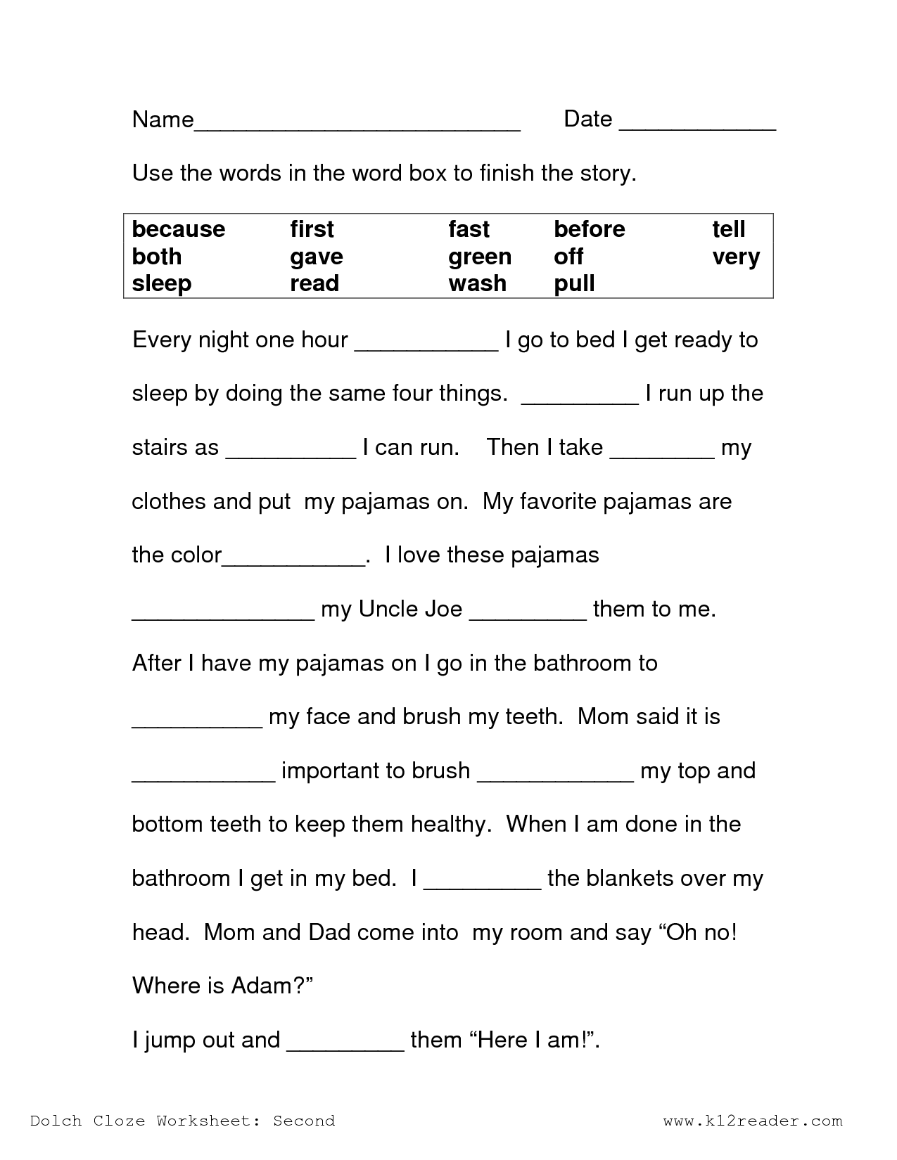 Reading Prehension Worksheet 2nd Grade