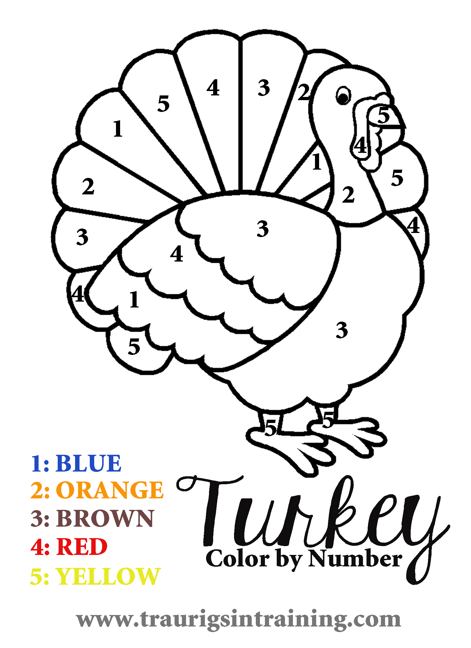 Thanksgiving Color By Number Division Worksheets Sketch