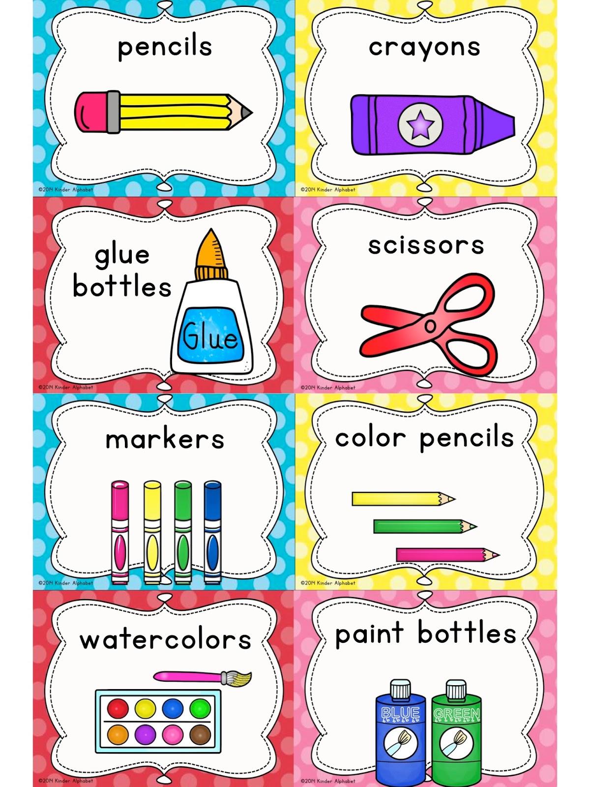 5 Best Images Of Preschool Classroom Labels Printable