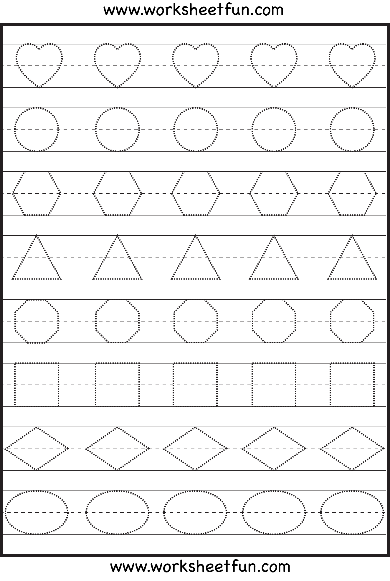 5 Best Images Of Printable Preschool Worksheets Diamond
