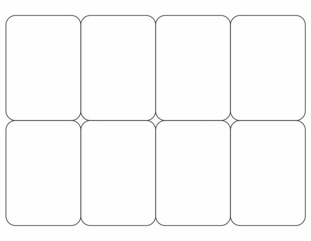 Simple Blank Playing Card For Word #5