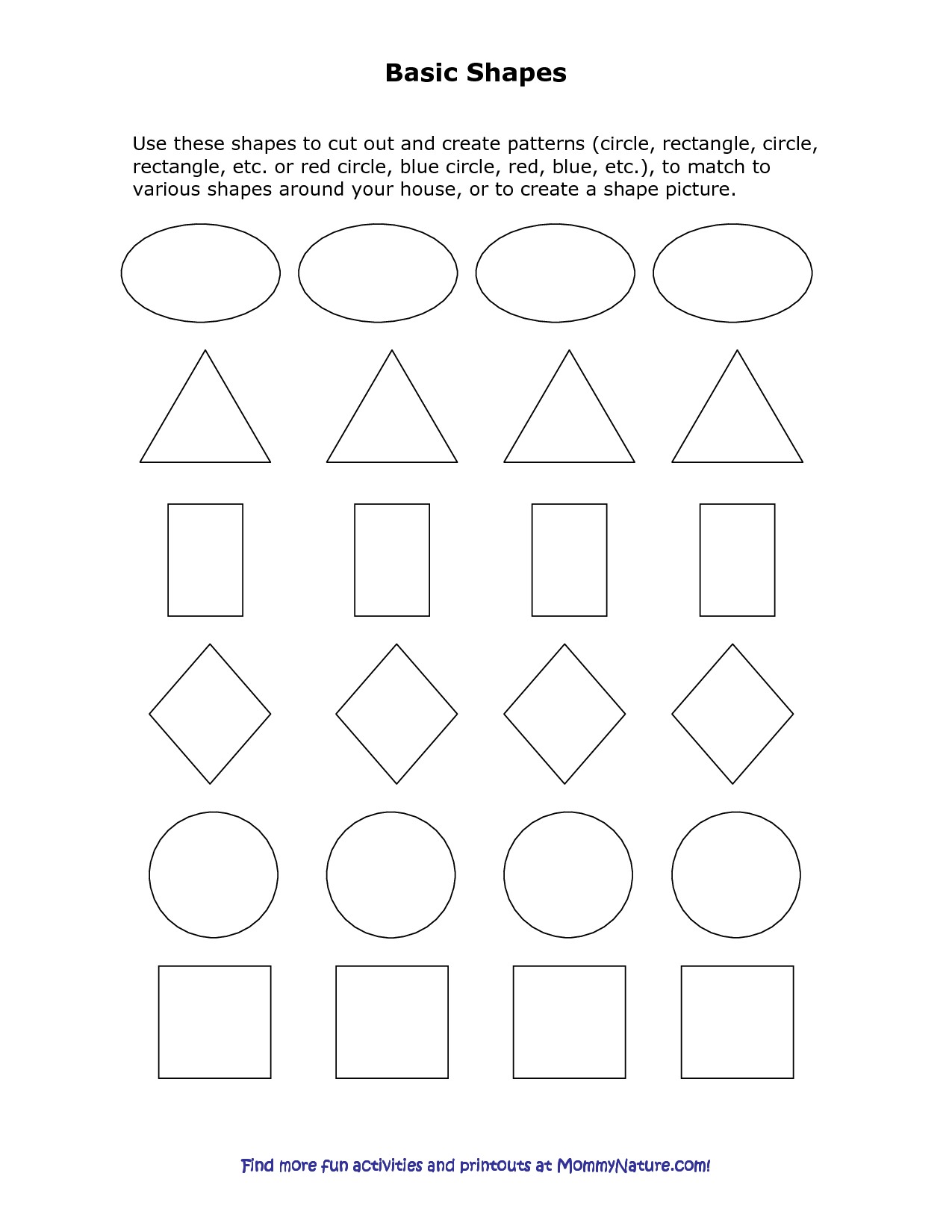 The Best Printable Shapes Cut Out