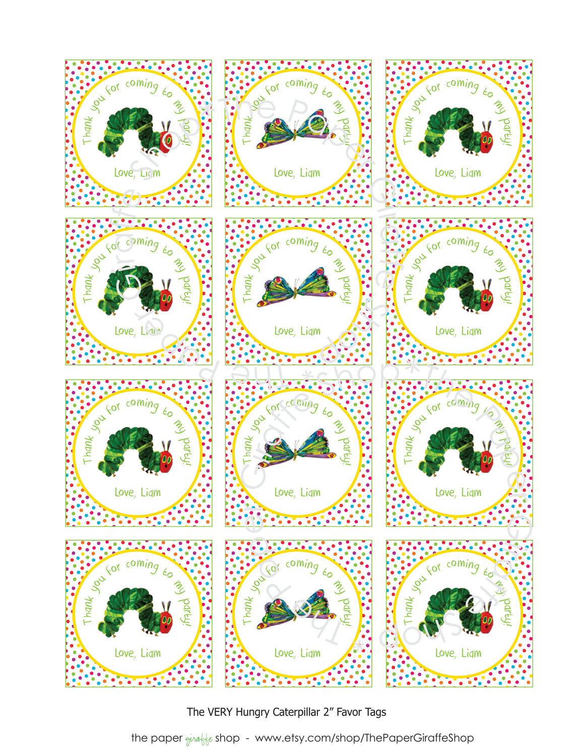 5 Best Images Of Hungry Caterpillar Party Free Printables