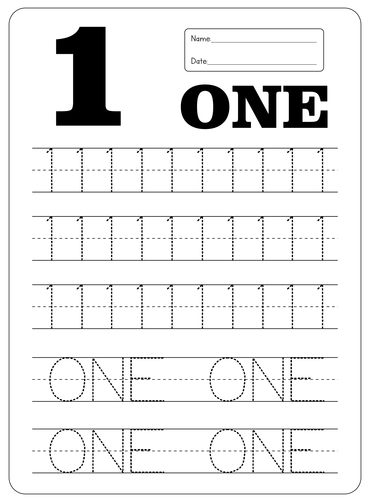 7 Best Images Of Printable Number Worksheets