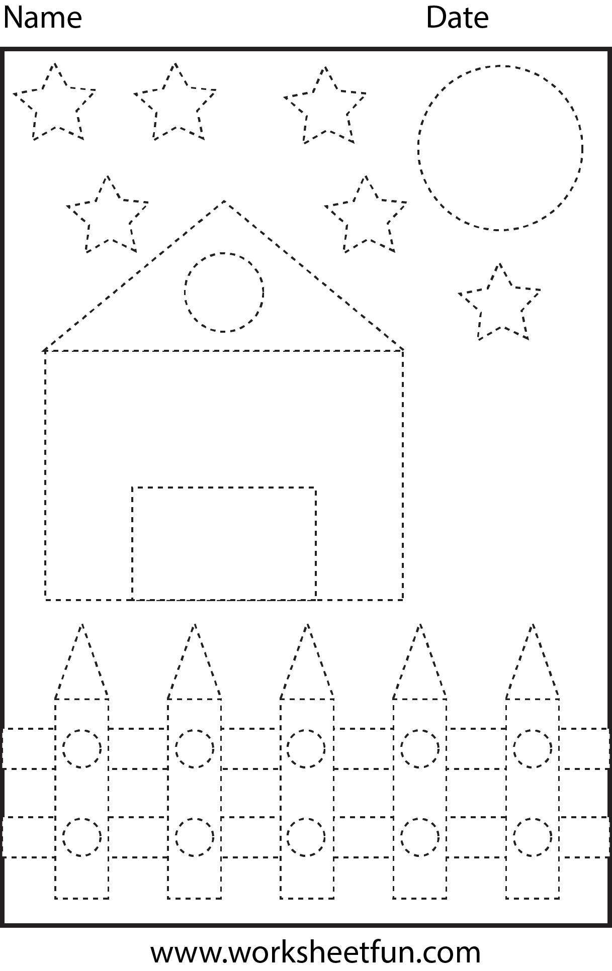5 Best Images Of Free Printable House Shapes Worksheet