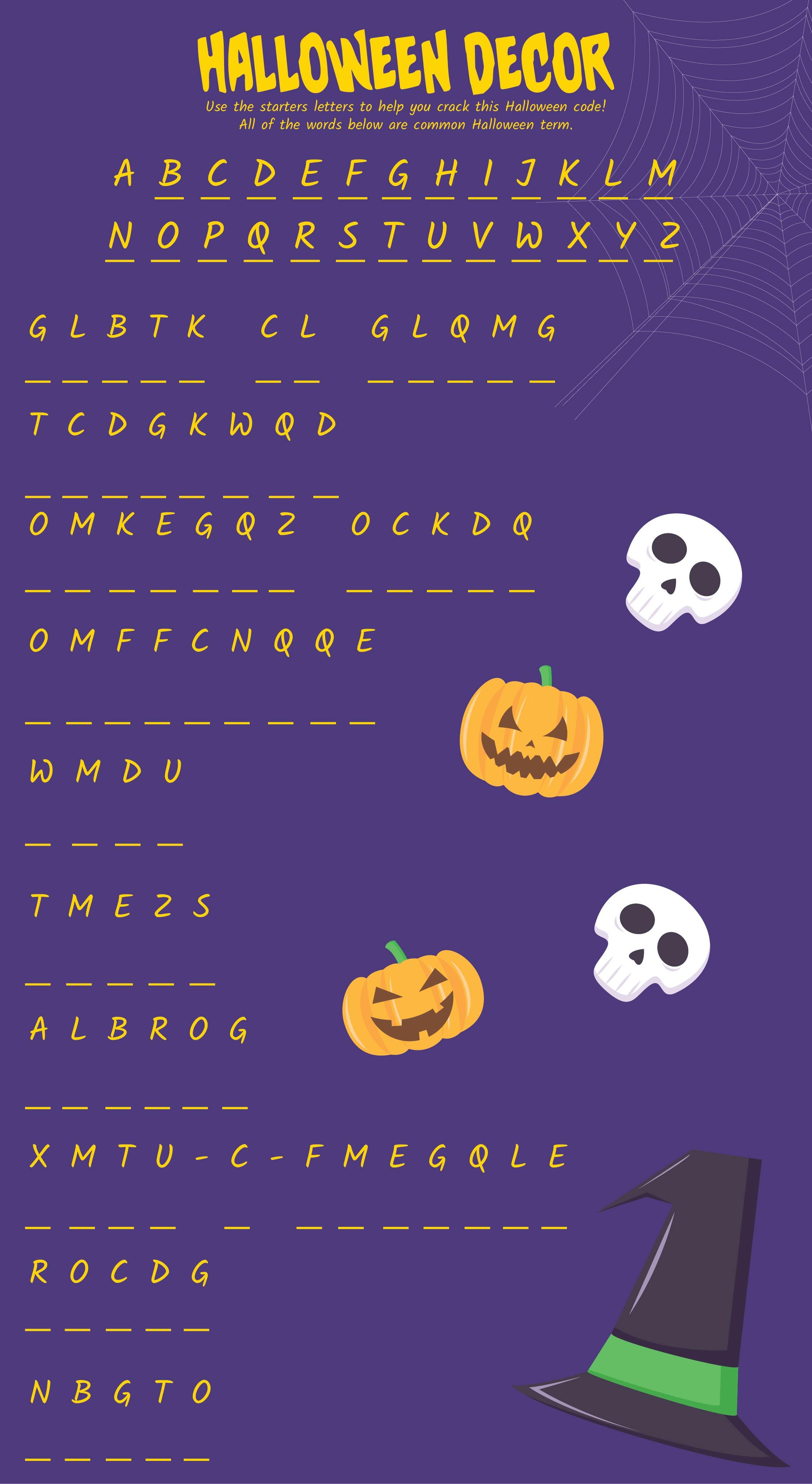 7 Best Images Of Free Halloween Printable Activities
