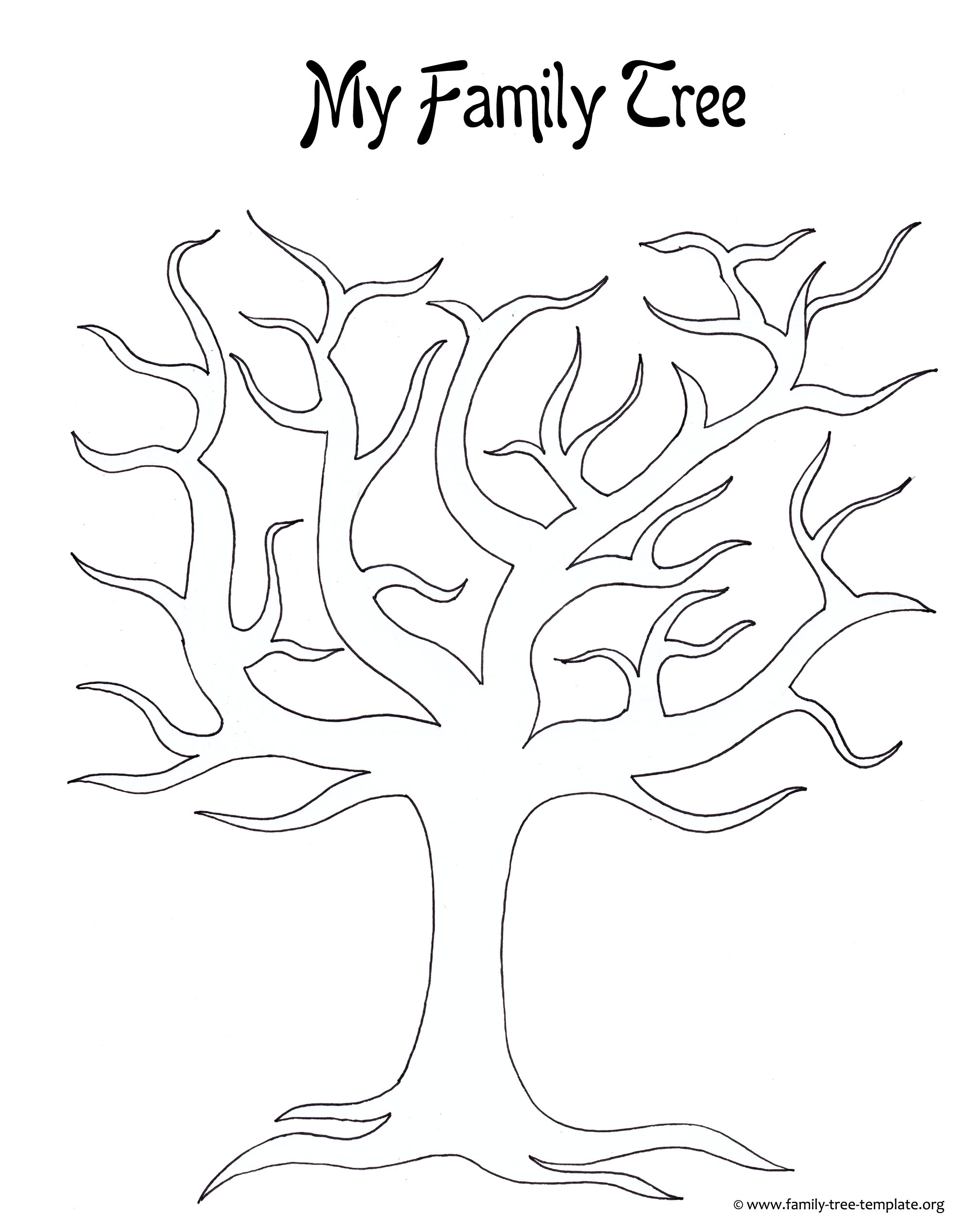 7 Best Images Of Family Tree Outline Printable