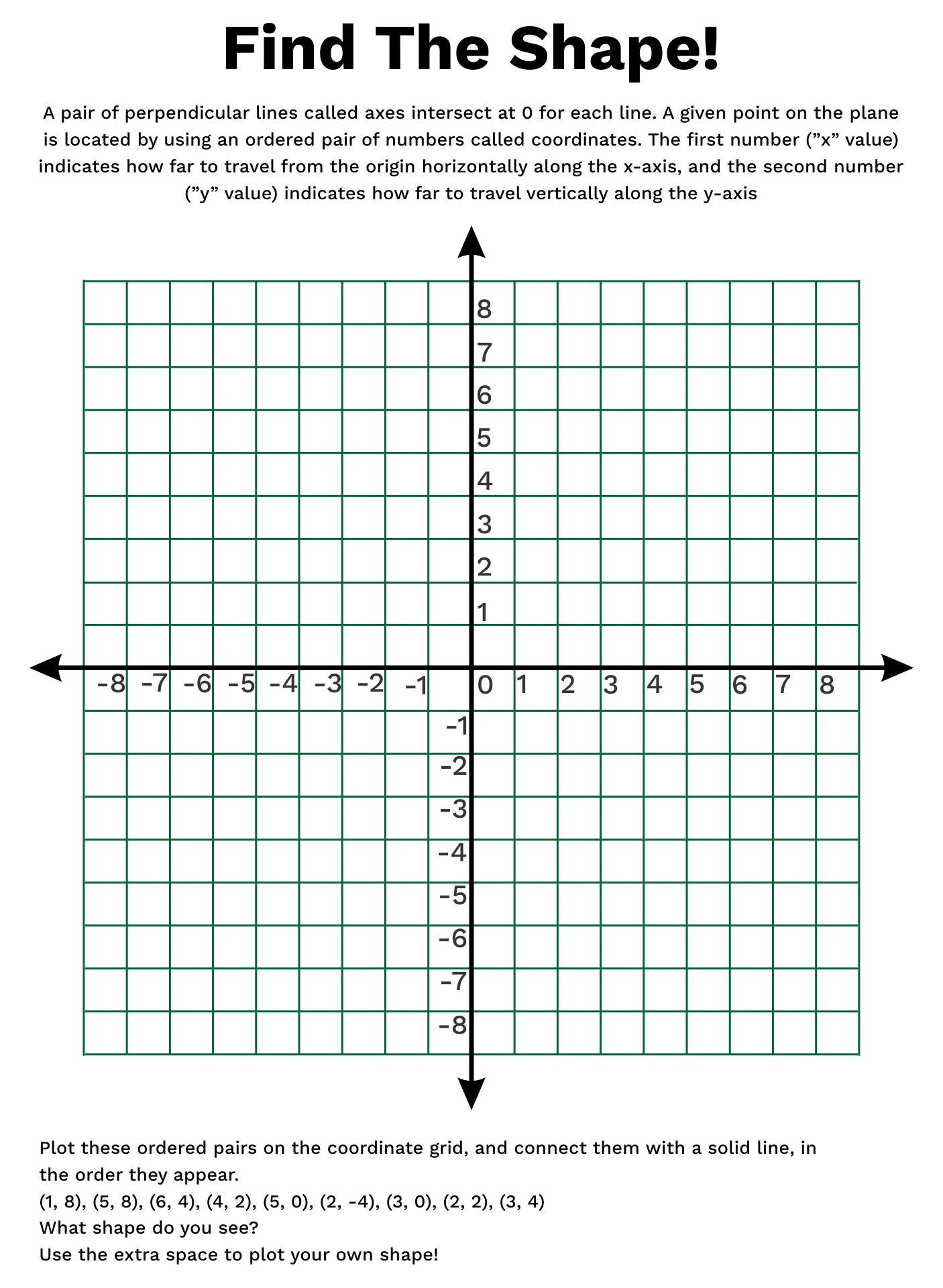 4 Best Images Of Printable Coordinate Grids