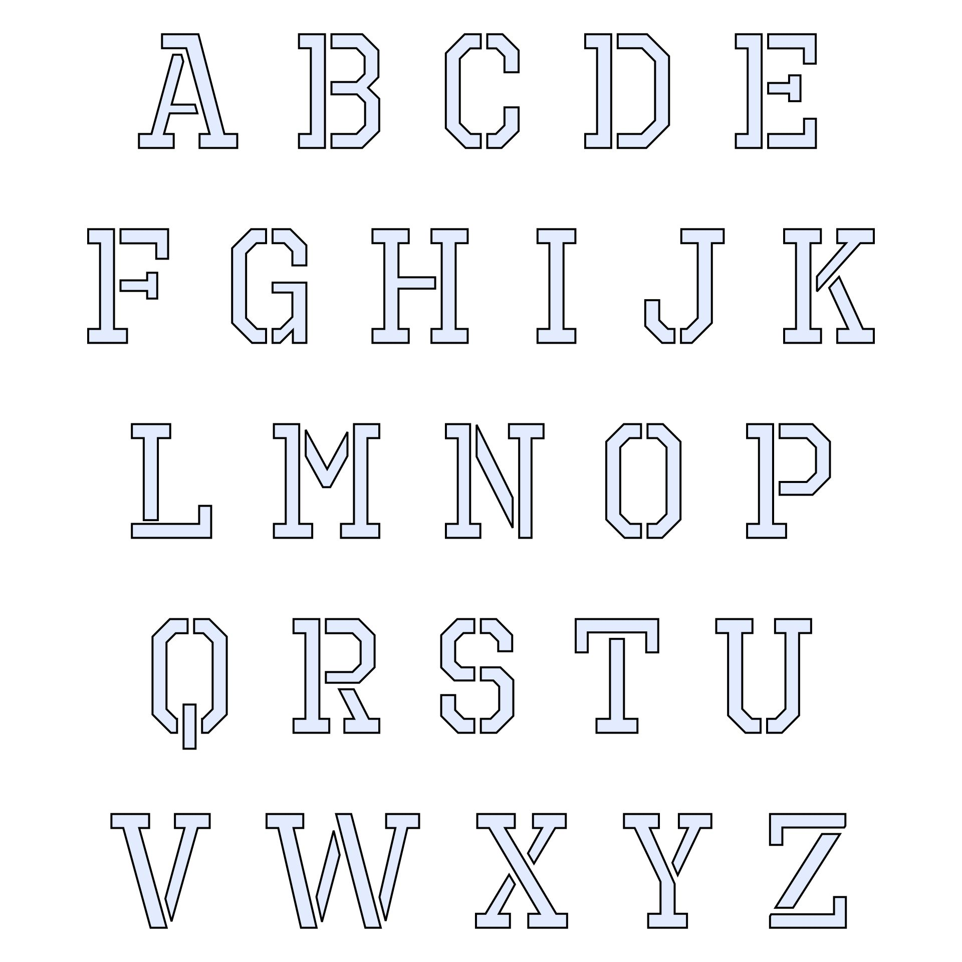 6 Best Images Of Printable Cut Out Letters