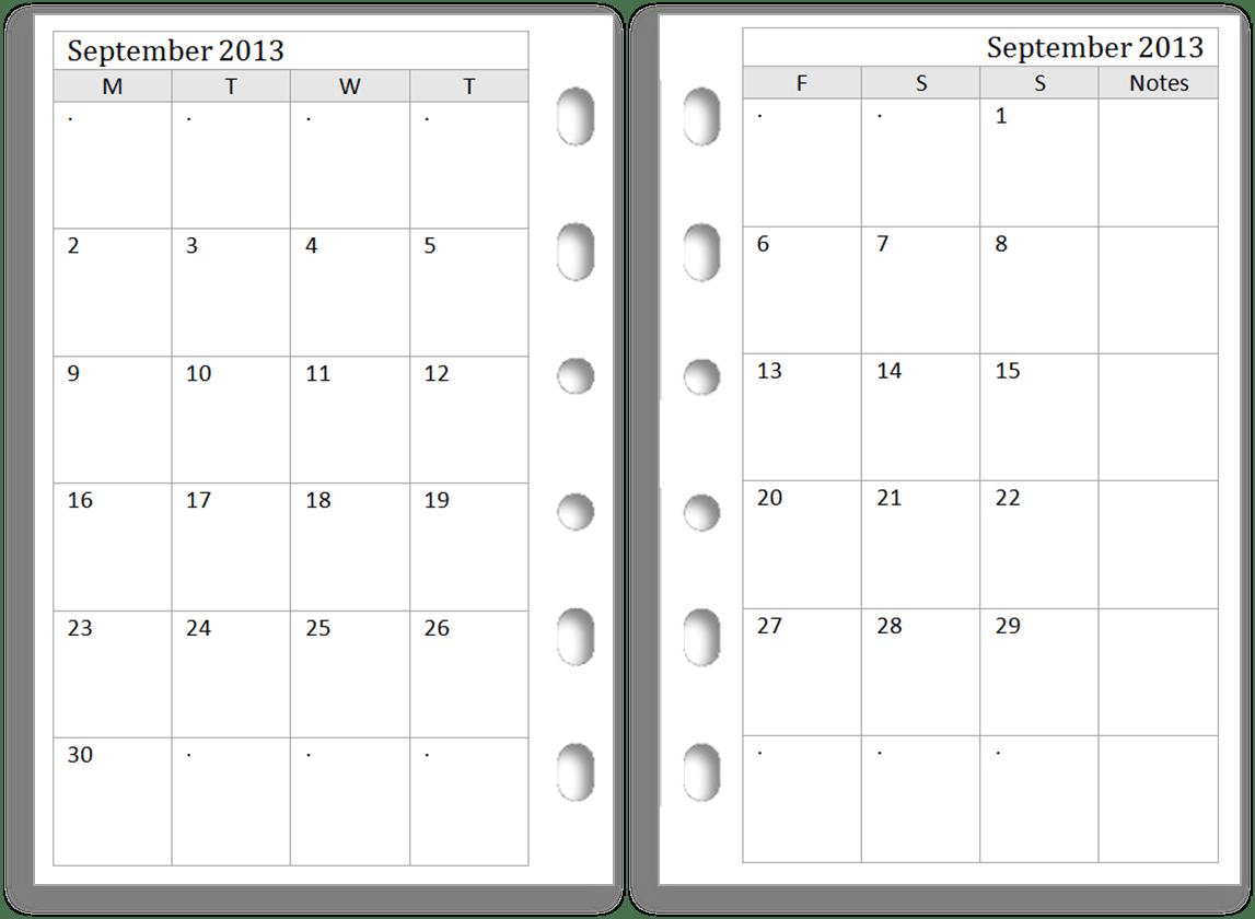 Blank Calendar 2014 Printable Free