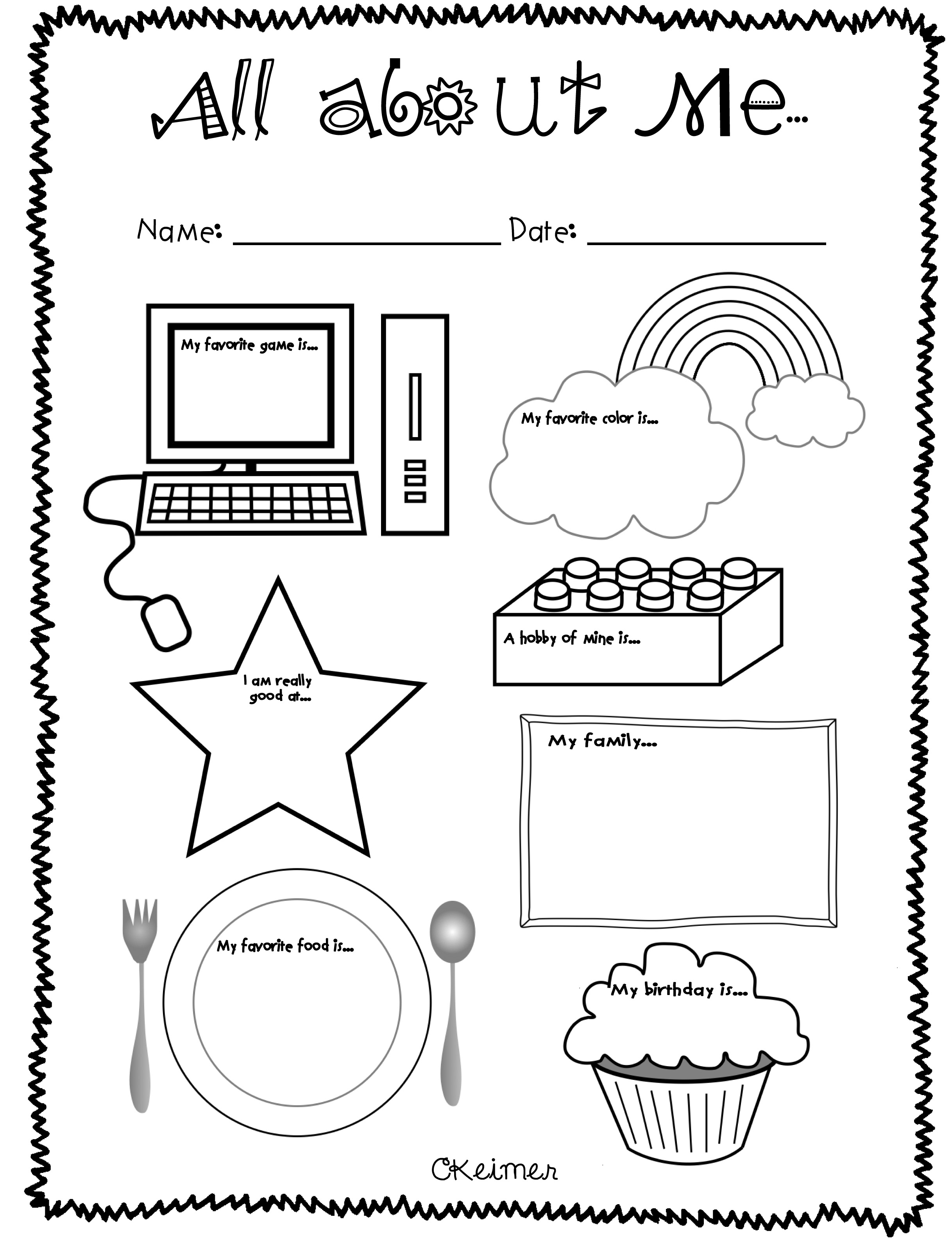 6 Best Images Of Getting To Know Me Printable Preschool